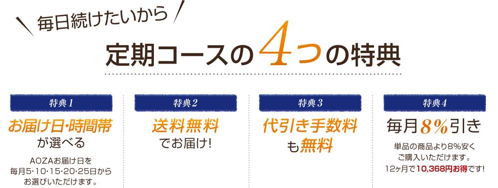 定期コースの4つの特典